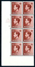 1936 1½d Red Brown A36 Cylinder 13 no dot Block of 8 Unmounted Mint V75227