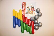 22 Teilig! SMARTMAX 15 Magnetstäbe und 7 Kugeln Riesenmagnete Magnetspiel