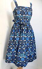 NOUGAT London Blue Circles 50s Style Sun Dress 6 8