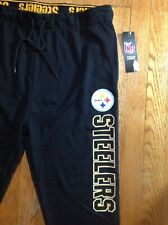 PITTSBURGH STEELERS BLACK JOGGER PANTS NFL TEAM APPAREL MENS LARGE~NEW