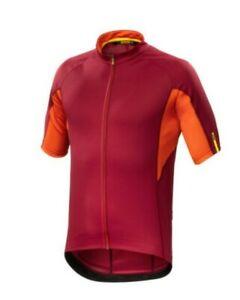 mavic aksium short sleeve jersey  red georeg orange