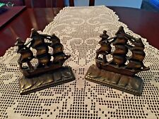 *Wow* Vintage Antique Ship Bookends Book Ends