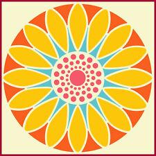 FLOWER CIRCLE 11 - SUNFLOWER STENCIL - BOTANICAL - The Artful Stencil