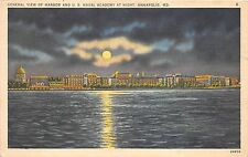 B37402 General view of Harbour and u S Naval academy at night Annapolis  usa