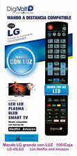 Mando a distancia LG para LCD LED PLASMA OLED SMART TV NO REQUIERE PROGRAMACION