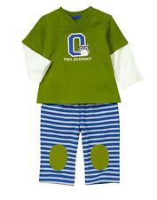 GYMBOREE Owl Academy DOUBLE SLEEVE 2-PC SET Boys 18-24 M NWT