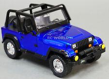 1/24 DieCast 1990's  JEEP WRANGLER RUBICON Model TRUCK Blue