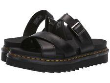Women's Shoes Dr. Martens RYKER Leather Slide Buckle Sandals 24515001 BLACK