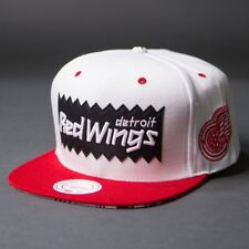 BAIT x NHL x Mitchell And Ness Detroit Red Wings STA3 Wool Snapback Cap (white /