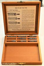 Kingsley Hot Foil Stamping Machine lot of 27 Emblems Wood Box Set #1