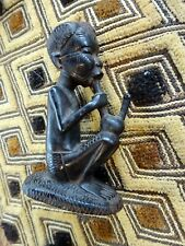 A Vtg Decorative Well carved Ethnic Wooden Ebony Tribal Figure III