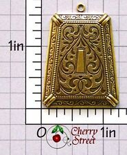 Trapezoid Pendant Findings 1261bo2 2 Victorian Ox Brass