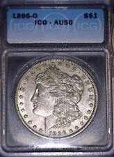 1896-O Morgan Silver Dollar, ICG  AU50, Tough Date, Issue Free.