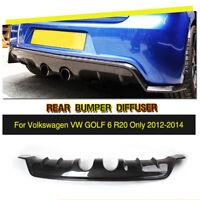 Carbon Fiber Rear Bumper Diffuser Lip Fit For VW Golf 6 VI MK6 R20 12-14 Factory