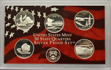 2005 Proof State Quarter Set Gem DCAM 90% Silver