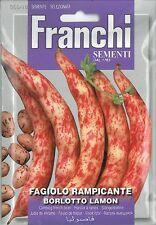 Franchi Seeds Climbing French Bean Borlotto Lamon seed
