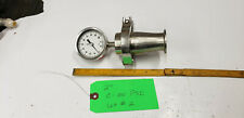 "Ashcroft 2-1/2"" Diaphragm w/ 2"" Reducer 0-100 PSI Stainless Sanitary Gauge lot#2"