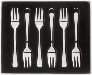 JUDGE Windsor Set of 6 Stainless Steel Cake/Pastry Forks Cutlery/Dessert/Pudding