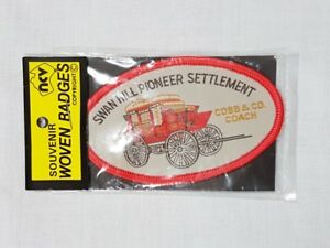 Swan Hill Pioneer Settlement, Collectable Souvenir Sew on Patch / Badge (NOS)