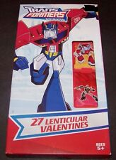 Transformers Valentines Day Cards 27 Count Animated Lenticular 2008 Hasbro CN