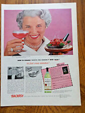 1956 Bacardi Rum Ad  How to Change What's for Dinner?  into WOW