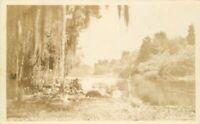 1920s Silver Springs Florida River RPPC Photo Postcard 7213