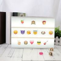 85pcs Replacement A4 Up Box Letters Cards Sign LED Cinematic Board Gift