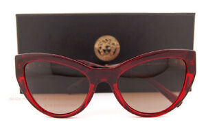 Brand New VERSACE Sunglasses VE 4381B 388/13 Burgundy/Brown Gradient For Women
