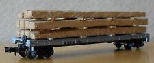 N scale 60' flat car real wood load SBIX Standard Brands Atlas good