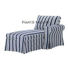 NEW IKEA EKTORP Right Chaise Lounge Cover Slipcover - Toftaholm Blue