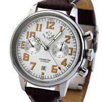 KIROVA Uhr Chronograph mechanisch 1MWF Poljot 3133 Russland NOS Handaufzug