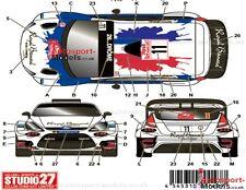 1/24 Ford Fiesta '14 Monte Carlo #11 Royal Bernard decal set by Studio 27 DC1086