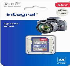 64GB SD Card U3 Class 10 TF Memory For BLACKMAGIC DESIGN Camera (4K Video)