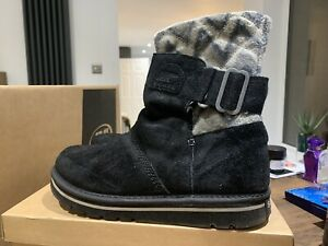 Warm Aztec Sorel Ankle Boots Fleece-lined Size 5