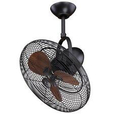 """NEW 18"""" Bronze Oscillating Adjustable Indoor Outdoor Ceiling Fan! Damp Rated"""