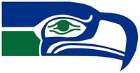 Seattle Seahawks NFL Color Die Cut Vinyl Decal Sticker - You Choose Size
