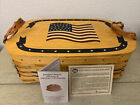 Peterboro 150th Anniversary Flag Basket w/divided Protector/Lid 1854-2004 New