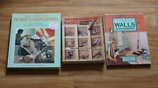 3 books Walls and Woodwork  Woodworking Basics & the Complete Home Carpenter