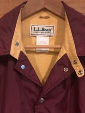 Rare USA Made VTG 80s/90s LL Bean Maroon Lined Snap Coach Windbreaker Jacket L
