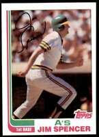 1982 Topps Baseball Jim Spencer Oakland Athletics #729
