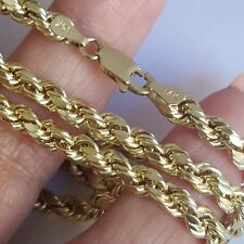 14k yellow gold rope chain 28 inches long 4 mm