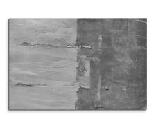 120x80cm abstrakt 977 schwarz weiß Wand Beton OPTIK auf Leinwand Sinus Art