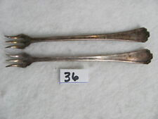 Set of RCCO Rogers Cutlery Co Silverplate Pickle Cocktail Forks               36