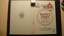 W D & H O WILLS HIGHWAY CODE SAFETY FIRST SPECIAL ALBUM + SET CORNER MOUNTED