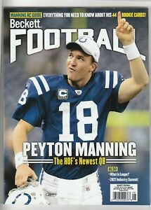 NEW CURRENT BECKETT FOOTBALL PRICE GUIDE MAGAZINE, AUGUST 2021, (PEYTON MANNING)