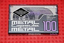 MAXELL CAPSULE  METAL  100     BLANK CASSETTE TAPE (1) (SEALED)