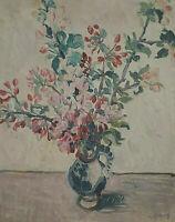 Signiert t... - Blumenstillleben mit Vase