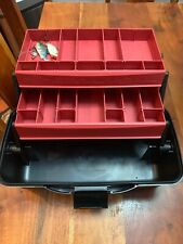 Flambeau Outdoors Fishing Tackle Box 2 Tray New Black & Red