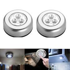 3-LED PUSH LIGHTS UNDER KITCHEN CUPBOARD NIGHT BEDSIDE SHELF DISPLAY CABINATE W