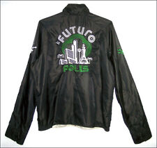 Retro modern DIESEL El Futuro Polis reversible embroidered zip front jacket - M
